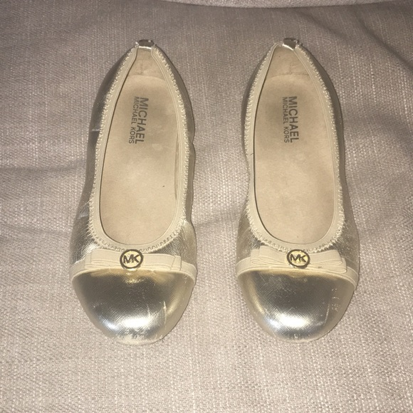 "Other - Michael Kors gold ""Rover Lux"" flats"
